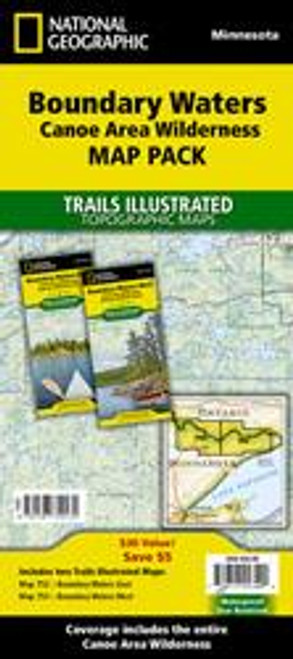 National Geographic Boundary Waters Map Bundle Pack - East & West Maps - 749717013490