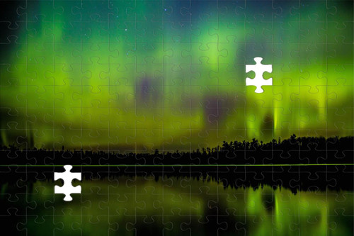 Puzzle - Northern Lights in Ely, MN by Eric Sherman -