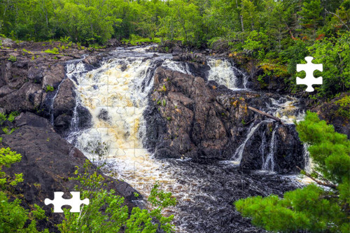 Puzzle - Kawishiwi Falls in Ely, MN by Eric Sherman -