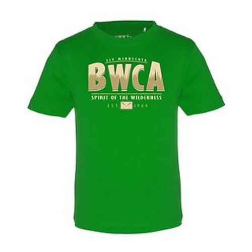 Youth BWCA Pines T-shirt / Kelly Green - 192870031243