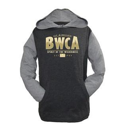 Youth BWCA Pines Hooded Long Sleeve T-shirt / Charcoal - 192870098710