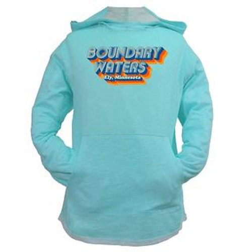 Youth Boundary Waters Long sleeve Hooded Tee - Aqua - 192870098765