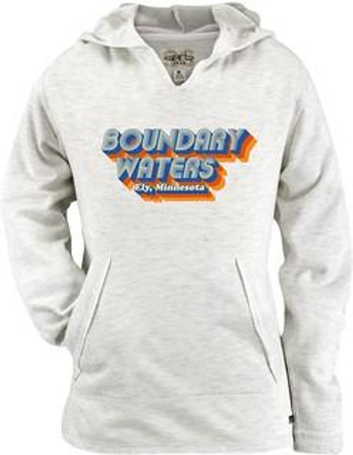 Youth Boundary Waters Long Sleeve Hooded Tee - Natural - 192870111686