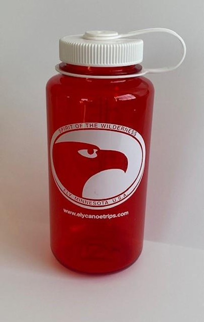 Nalgene Wide-Mouth Water Bottle 32oz / Red w/White Lid -