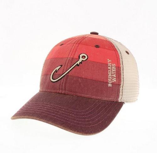 Legacy Boundary Waters Red Stripe Trucker Hat w/Hook - 190136336675