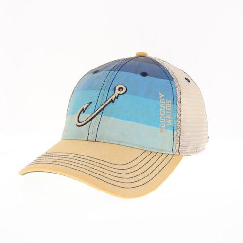 Legacy Boundary Waters Blue Stripe Trucker w/Hook - 641824336748