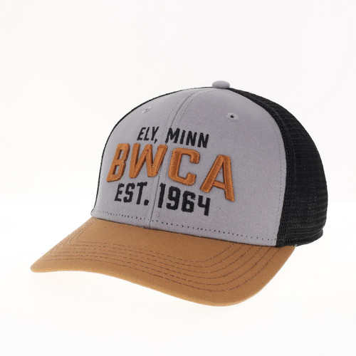 Legacy Structured BWCA Trucker Hat / Grey-Caramel-Black - 641824336342