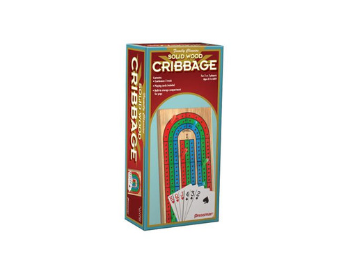 Cribbage Board with cards -
