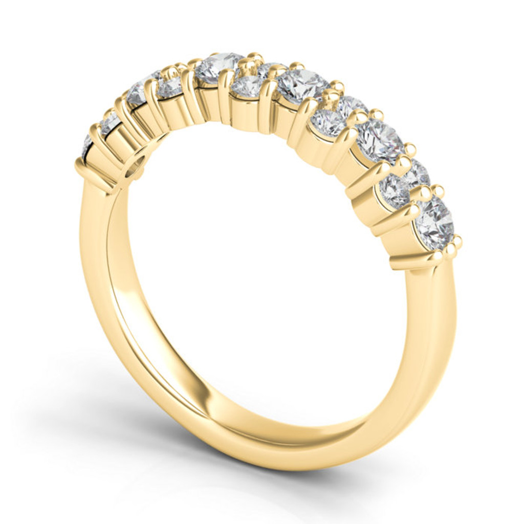 Sasha Primak Aludra Closed Gallery Partway Band with Alternating One Large and Two Small Diamonds JS-WB159A