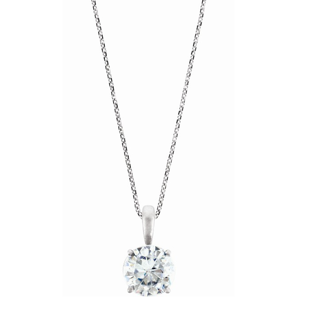 Charles and Colvard Forever One Moissanite Solitaire Pendant 651109