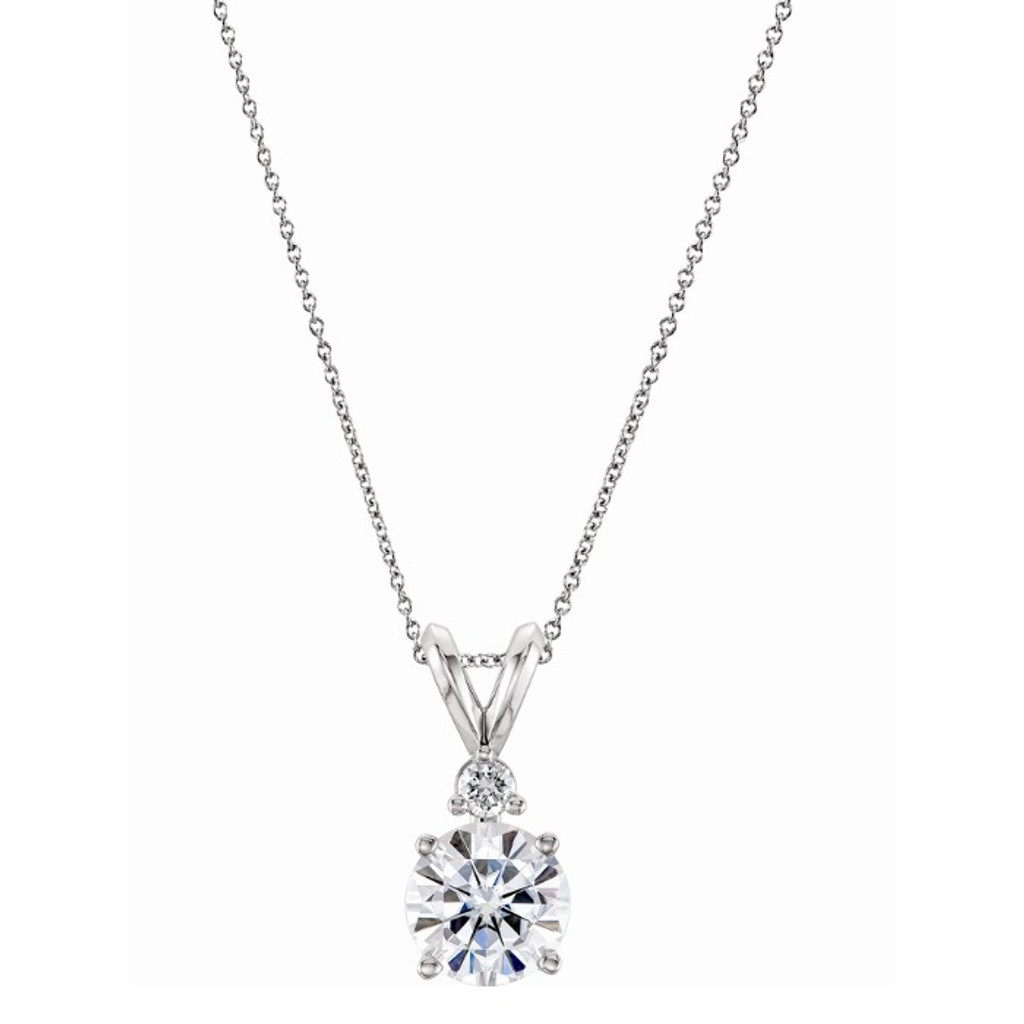 Charles and Colvard Forever One Moissanite Solitaire Pendant 65250