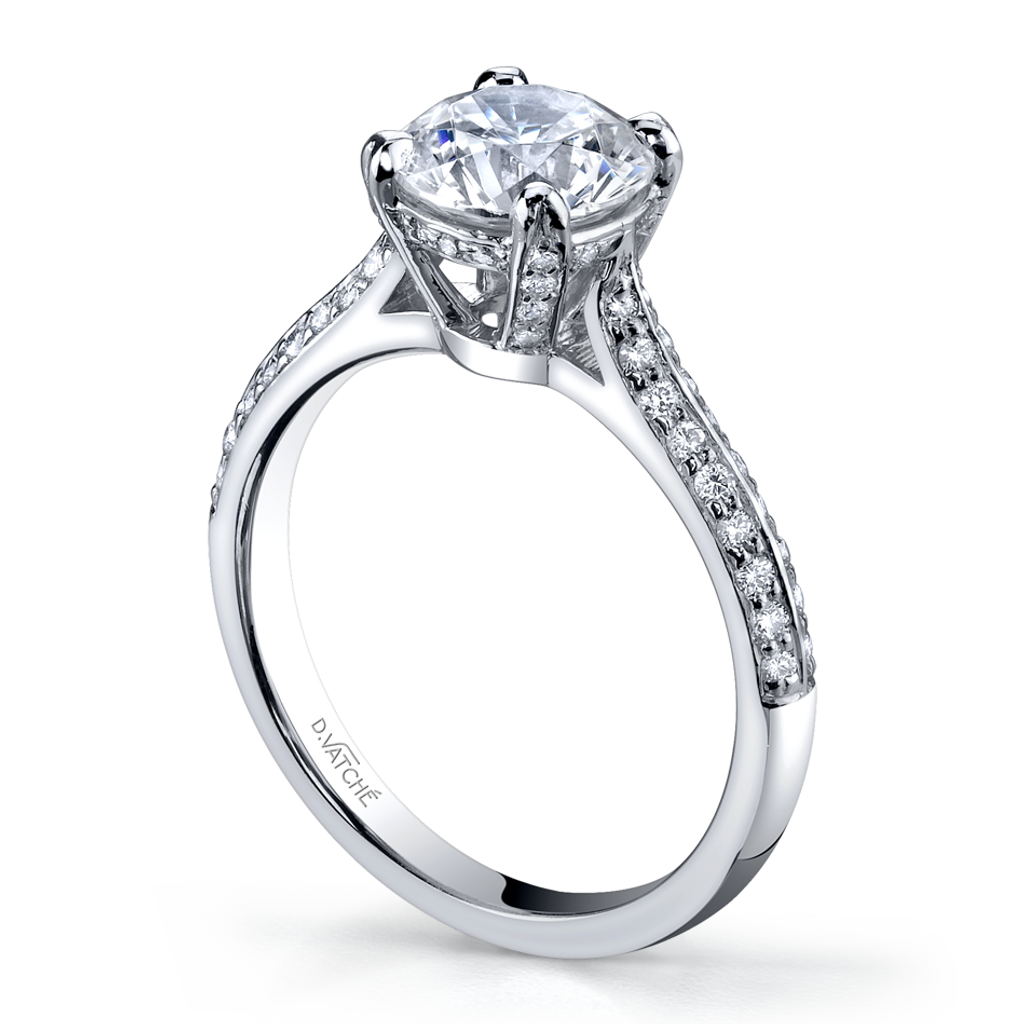 350bfe7e45dfde Vatche Solstice Pave Engagement Ring 281