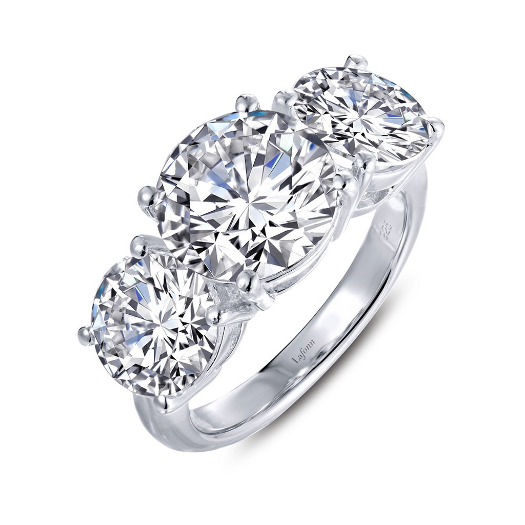 04fcea937b83b Lafonn Simulated Diamond Ring in Sterling Silver Bonded with Platinum  8R017CLP05