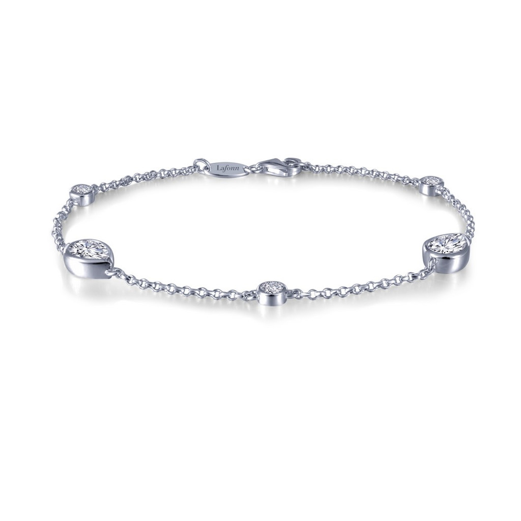 Lafonn Simulated Diamond Bracelet in Sterling Silver Bonded with Platinum B0023CLP70