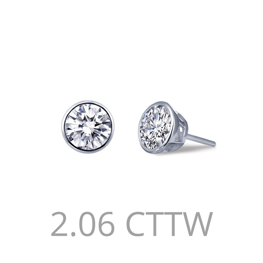 Lafonn Simulated Diamond Earrings in Sterling Silver Bonded with Platinum E0210CLP00