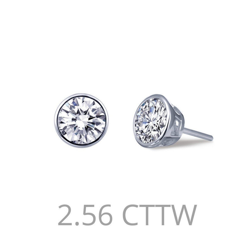 Lafonn Simulated Diamond Earrings in Sterling Silver Bonded with Platinum E0211CLP00