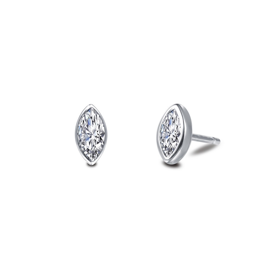 Lafonn Simulated Diamond Earrings in Sterling Silver Bonded with Platinum E0352CLP00