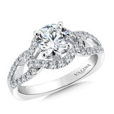 Valina Round Side Stone Engagement Ring R9318W