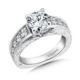 Valina Round Side Stone Engagement Ring R9477W