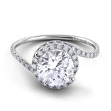Danhov Abbraccio Round Halo Engagement Ring AE100