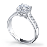 Vatche X-Prong with Round Channel Engagement Ring 109