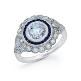 Lafonn Sapphire Ring in Sterling Silver Bonded with Platinum R0248CSP05