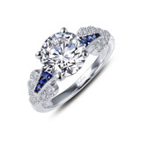 Lafonn Sapphire Ring in Sterling Silver Bonded with Platinum R0280CSP05