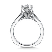 Valina Round Side Stone Engagement Ring R9330W