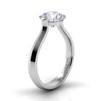 Danhov Classico Round Solitaire Knife Edge Engagement Ring CL123