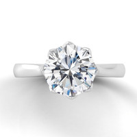 Danhov Classico Round Solitaire Knife Edge Engagement Ring CL140