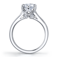 Vatche Swan with Round Channel Engagement Ring 192