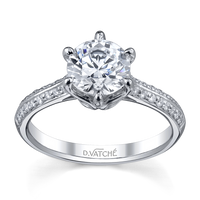 Vatche Swan with Pave Engagement Ring 196