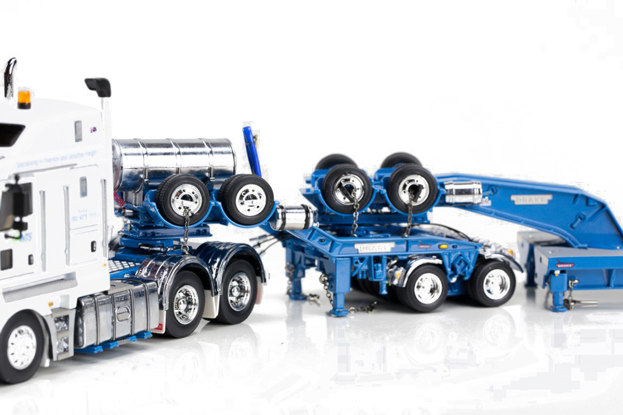 1:50 diecast scale model of Kenworth K200 with Drake 2x8 Dolly & Drake 3x8 Swingwing Low Loader-NTS