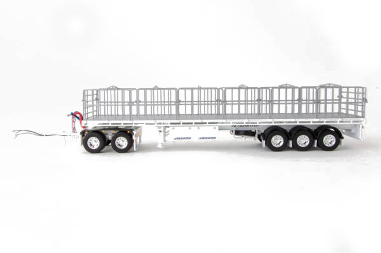 1:50 scale diecast model of MaxiTRANS Freighter Road Train Set - White