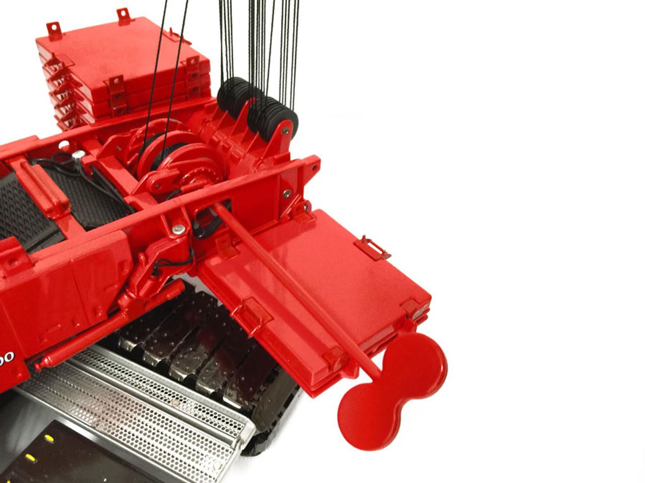 Key operated boom hoist
