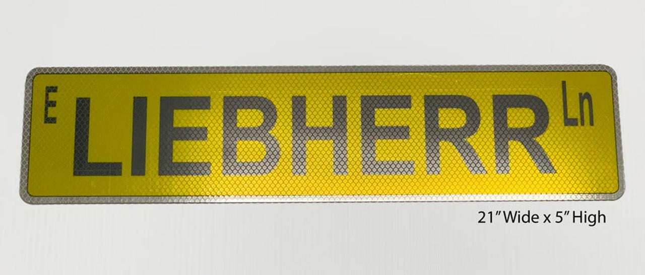 Liebherr Lane Street Sign