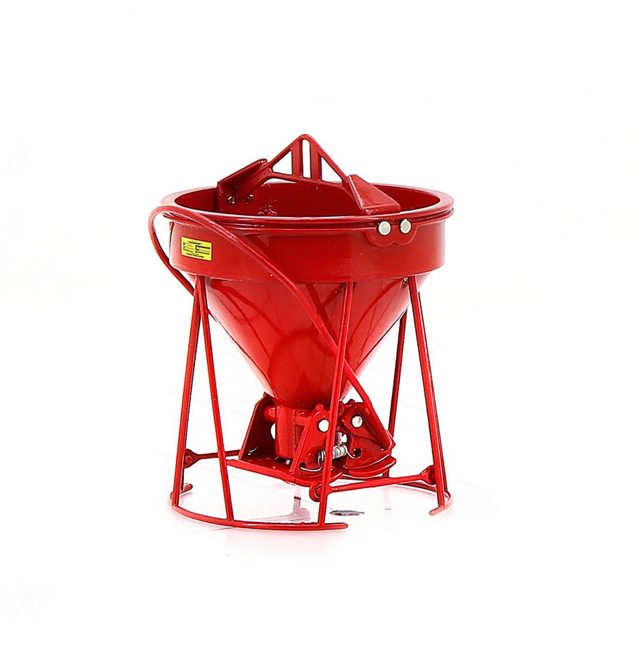 """Gar-Bro """"R"""" Series Lightweight Round-Gate Concrete Bucket - Red"""