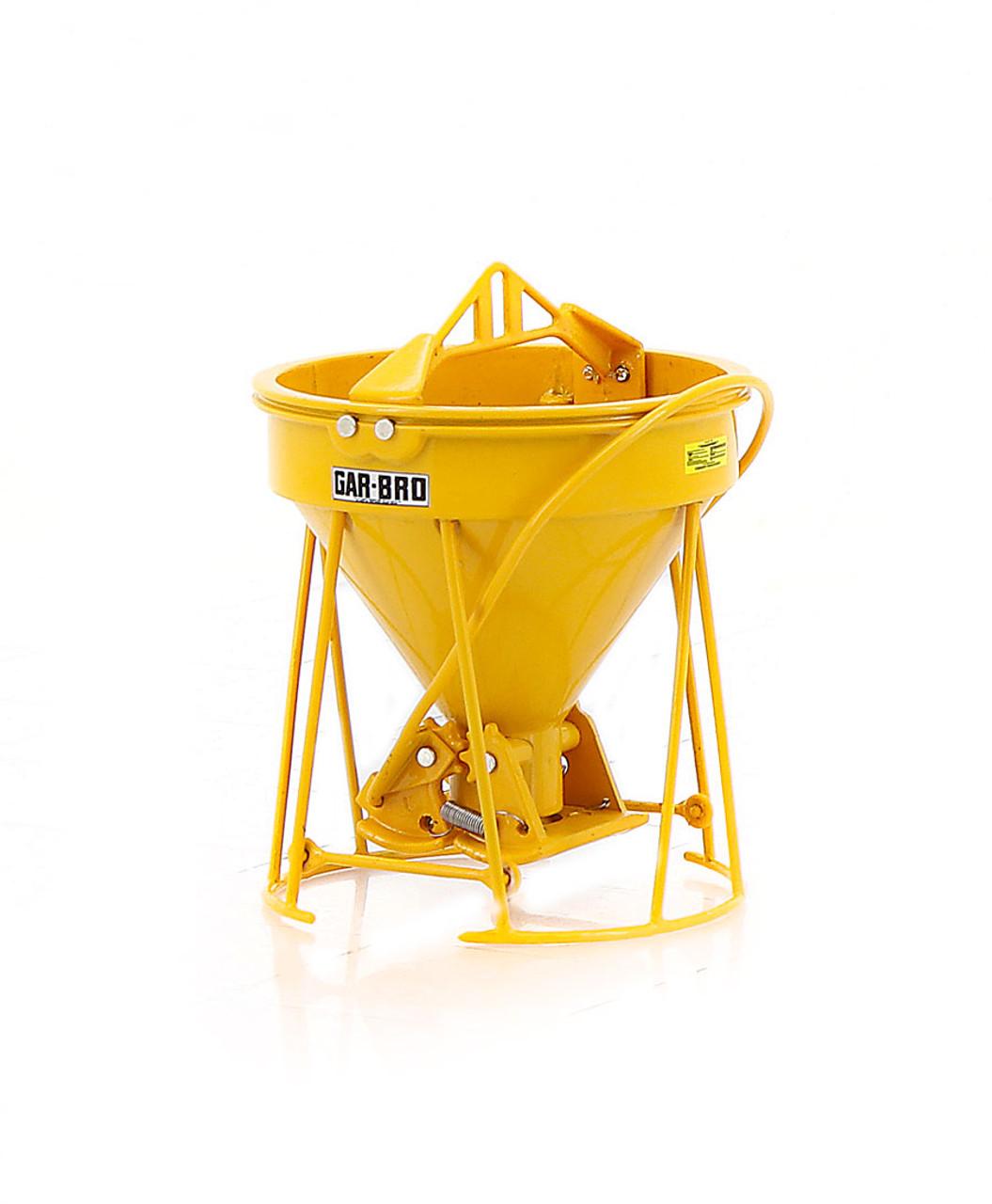 """Gar-Bro """"R"""" Series Lightweight Round-Gate Concrete Bucket - Yellow"""