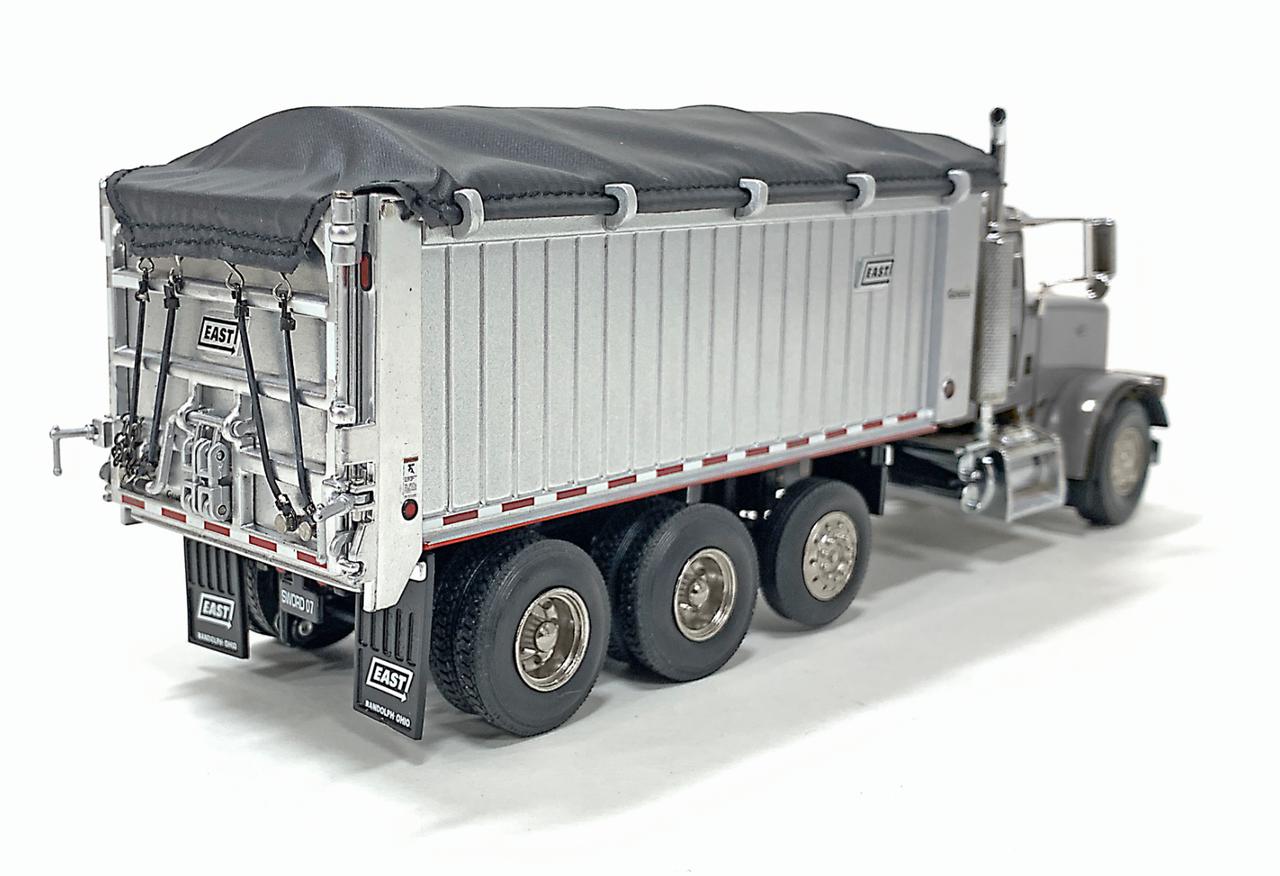 East Genesis Dump on Peterbilt 357 - Silver