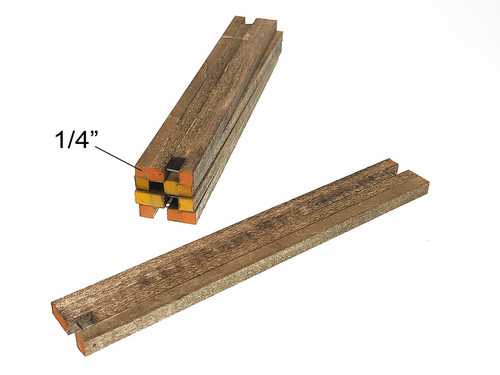 "New 1/4"" wooden crane mats - 1:50th scale"