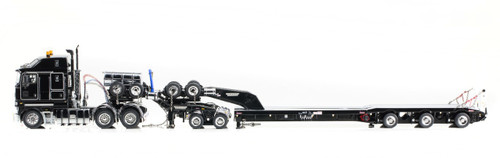 1:50 diecast scale model Kenworth K200 with Drake 2x8 Dolly & Drake 3X8 Swingwing Low Loader-Black