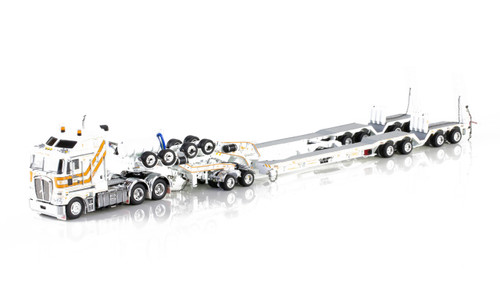 1:50 diecast scale model of Kenworth K200 with Drake 2x8 Dolly and Drake 4x8 Bucket Trailer-CQ Group