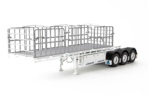 1:50 diecast scale model of MaxiTRANS B Double Flat Top Trailer - White