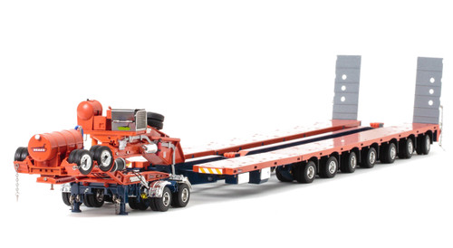 1:50 scale diecast model of Drake 2x8 Dolly and 7x8 Steerable Low Loader Trailer in Drake Livery