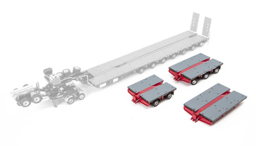 1:50 diecast scale model of Drake Steerable Low Loader Trailer Accessory Kit in Membrey Livery