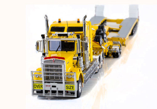 KENWORTH C509, 2X8 DOLLY AND 5X8 SWINGWING Chrome Yellow