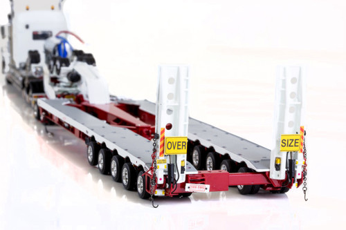 KENWORTH C509, 2X8 DOLLY AND 5X8 SWINGWING Red and White