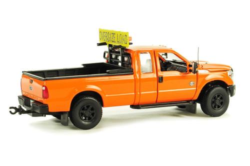 Ford F250 Pickup Truck w/Super Cab & 8ft Bed - DOT Orange