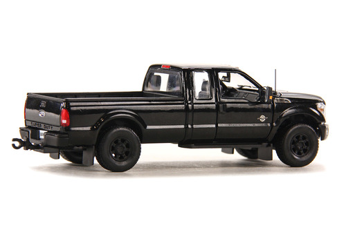Ford F250 Pickup Truck w/Super Cab & 8ft Bed - Black/Black