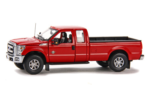 Ford F250 Pickup Truck w/Super Cab & 8ft Bed - Red w/Chrome
